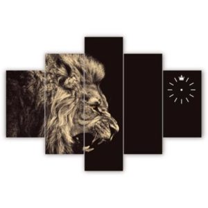 Lion-Head-canvas-wall-frame400